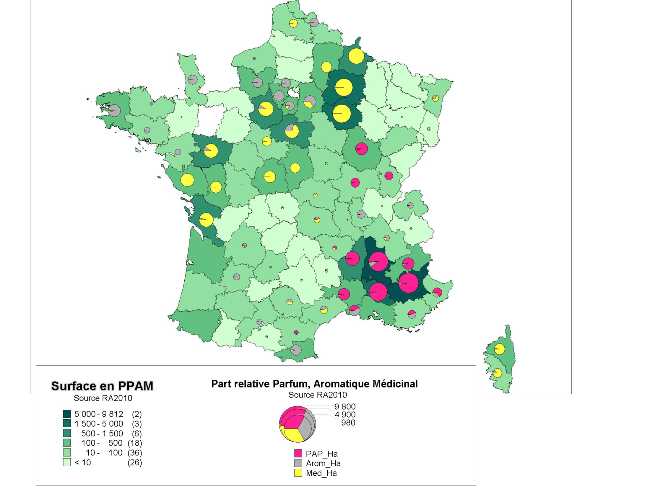 carte recensement ppam agreste